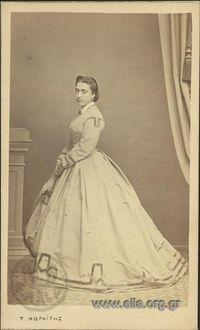 Portrait of a woman. | Moraitis, Petros Athens, c. 1860, Photographic Archive ELIA-MIET
