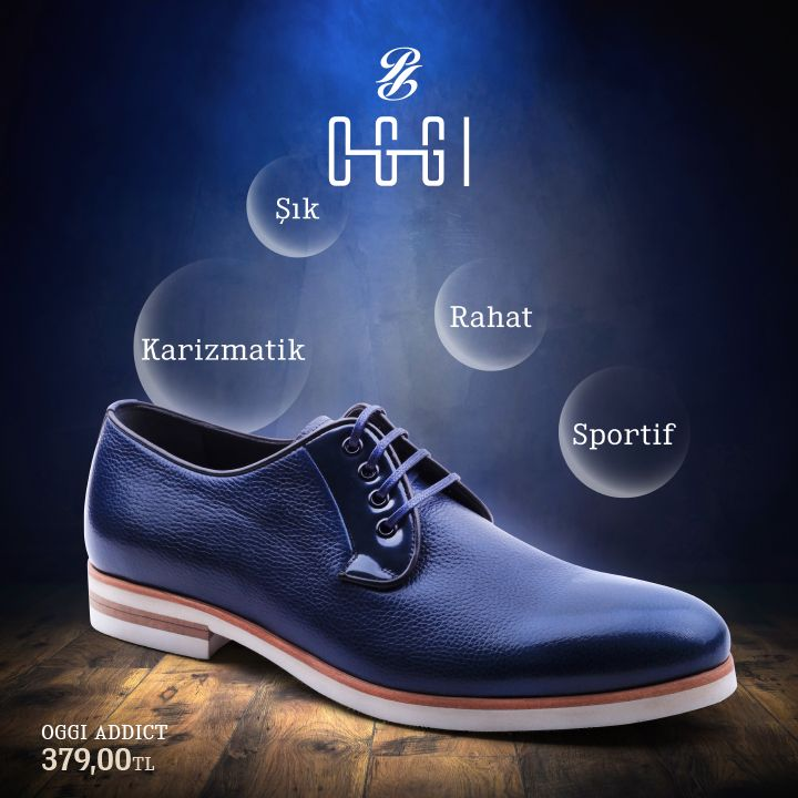 Karizmatik, şık, rahat, sportif. OGGI ADDICT sizde bağımlılık yapacak. #oggi #addict #shoes #ayakkabı http://bit.ly/1MzGOzc