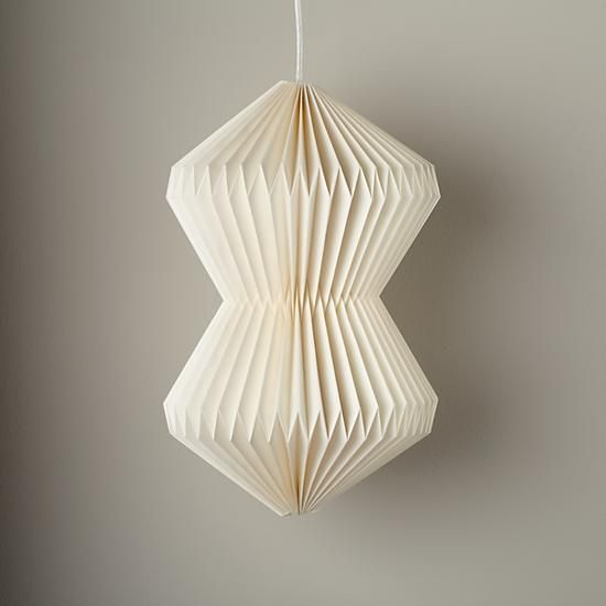 Childrens Light Shades Ceiling: Looseleaf Pendant Shade White - $29
