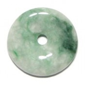 This is one of my favorite jade pi disc pendant colors, mixed greens are nice.