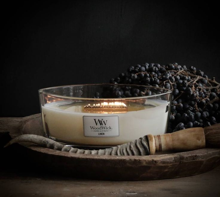 WoodWick HearthWick Candle In Linen