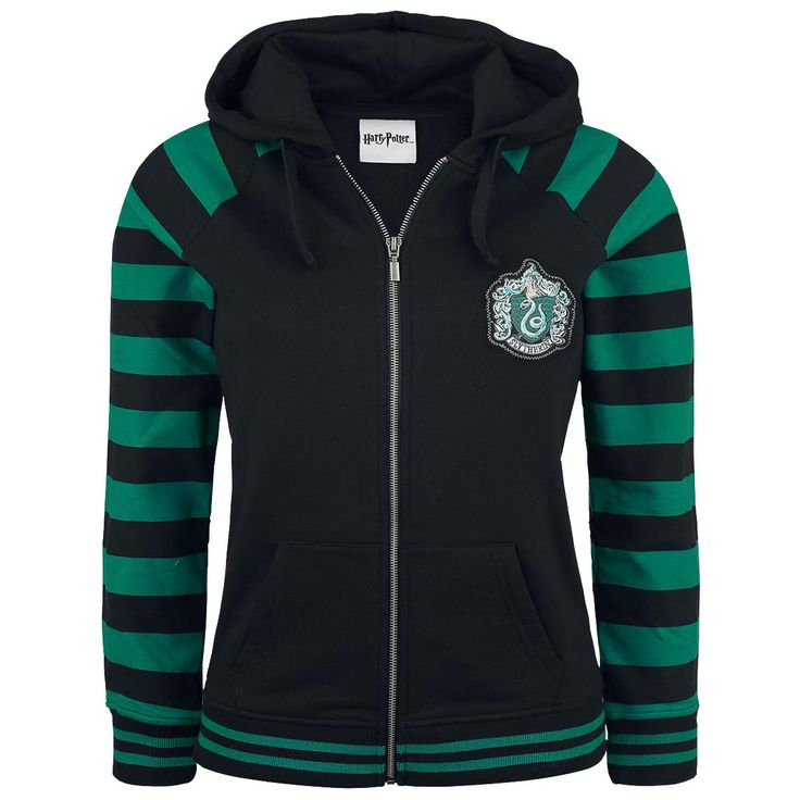 Slytherin - Sweat-shirt zippé à capuche par Harry Potter