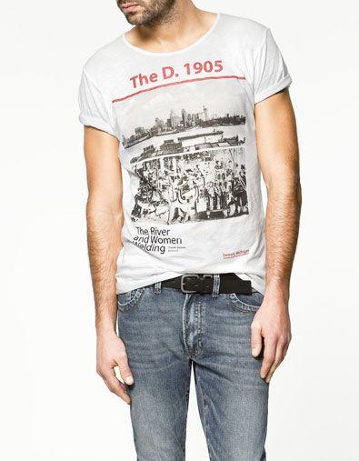 DETROIT T-SHIRT - T-shirts - T-shirts - Man - ZARA France