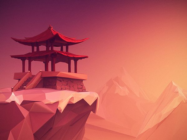 Low Poly Sceneries on Behance
