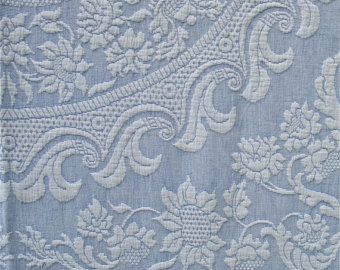 light blue twin bates woven bed covers   Light Blue Twin Bates Queen Size Vintage Woven Bedspread