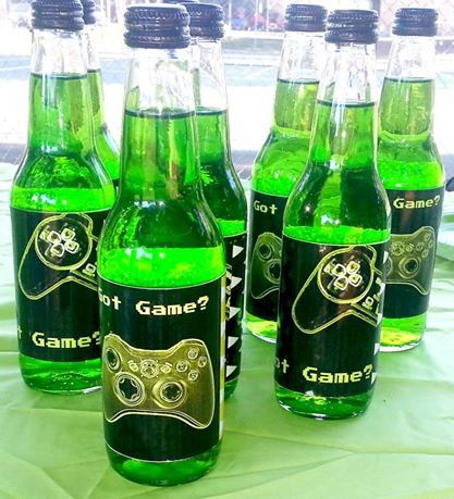Gamer Party Soda Bottle Labels by PryorityPlanning on Etsy, $1.50