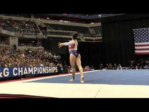 Aly Raisman – Floor Exercise – 2015 P&G Championships – Sr. Women Day 2 - YouTube