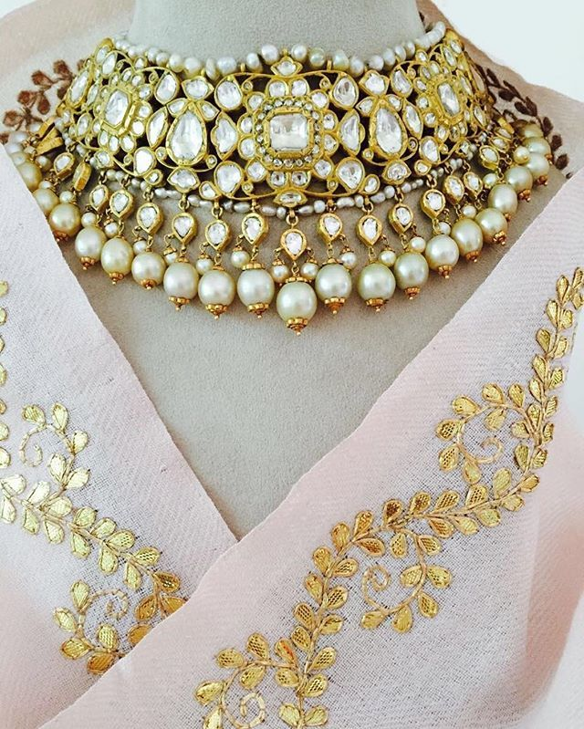 Traditional rajasthani diamond polki set