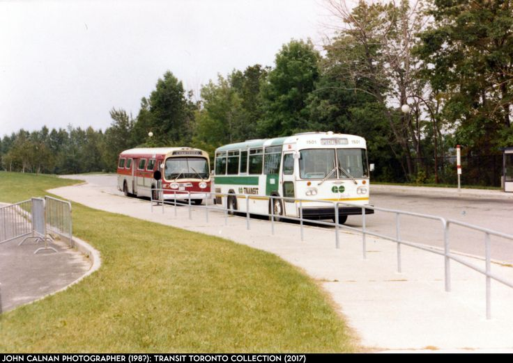 Go Transit  Orion  and TTC  GMC  Fishbowl