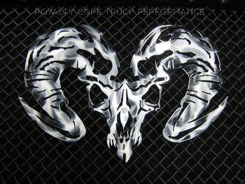 Ram Skull Airbrushed