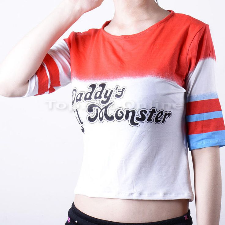 Harley-Quinn-Daddy-039-s-Lil-Monster-Suicide-Squad-T-shirt-Halloween-Costume-Cosplay