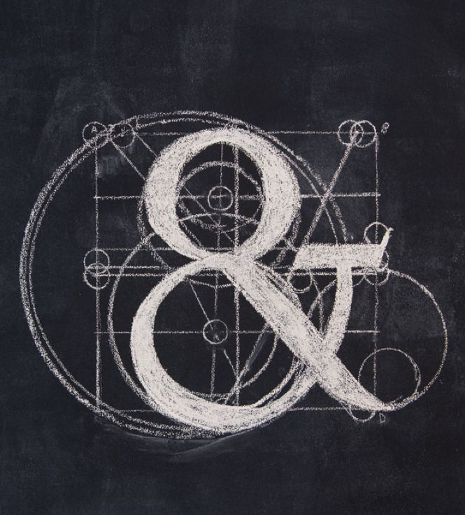 Ampers& Pt 2 . Typo . Typography . Tipografia . Grid . Construction . Chalkboard .