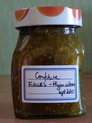 Confiture de figues au thym-citron