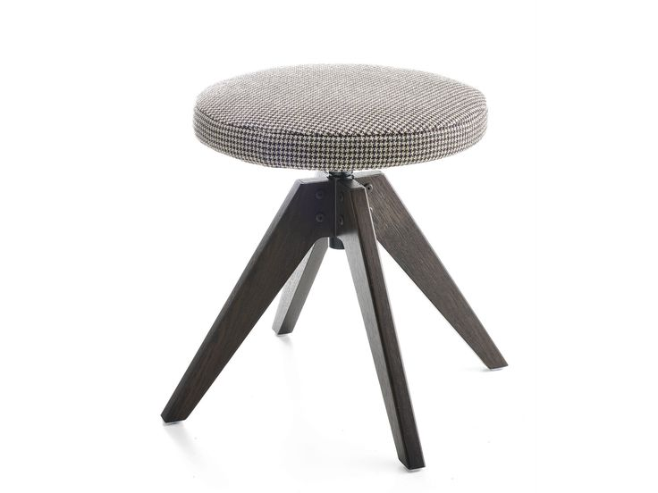Swivel upholstered stool with removable cover FLOW STOOL | Upholstered stool - MDF Italia