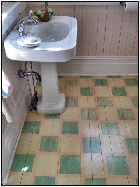 wonderful painted bathroom floor
