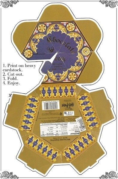Harry Potter Printable Chocolate Frog Box                                                                                                                                                     More