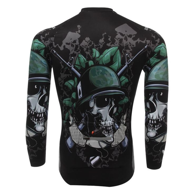 Free shipping Skull soldiers Fleece Thermal Cycling Wear/bicycle clothing Long Sleeved Jersey