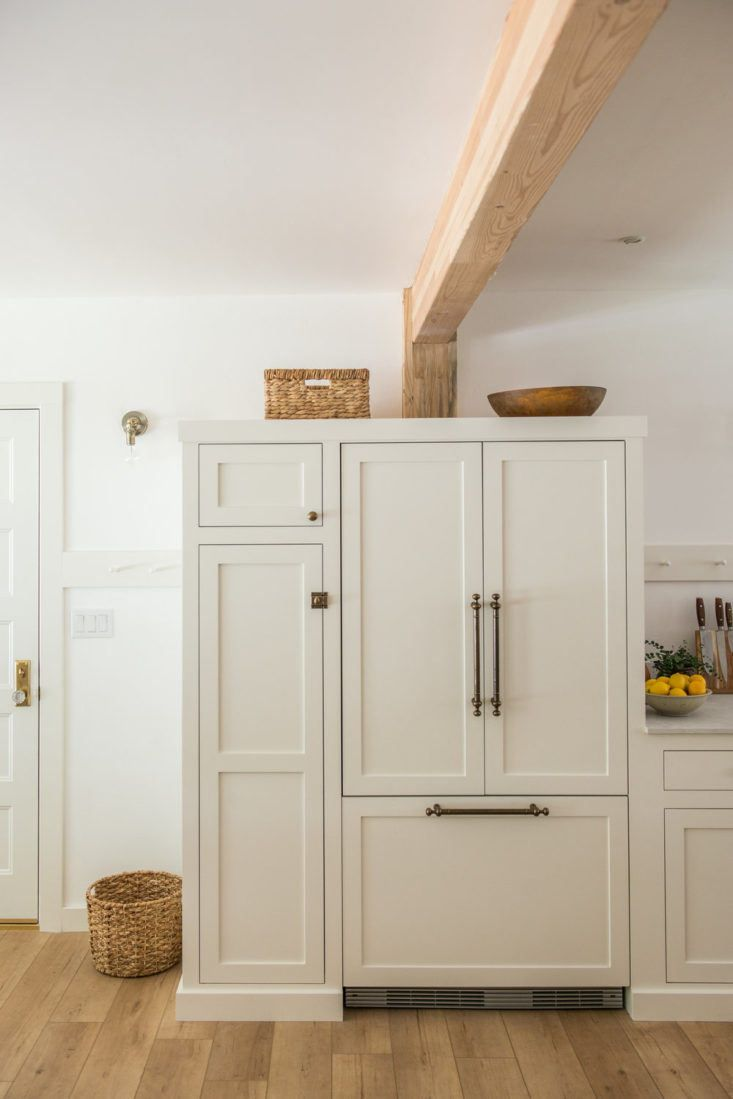 7 Storage Ideas To Steal From A Modern Farmhouse Inspired Kitchen Remodel The Organized Home Painting Kitchen Cabinets New Kitchen Cabinets Benjamin Moore Kitchen