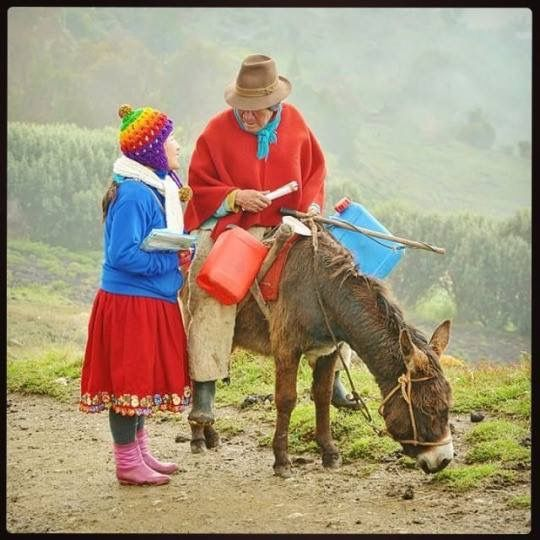 Quichua language preaching in the Andes, above Totoras Ecuador, 13,000' elevation.