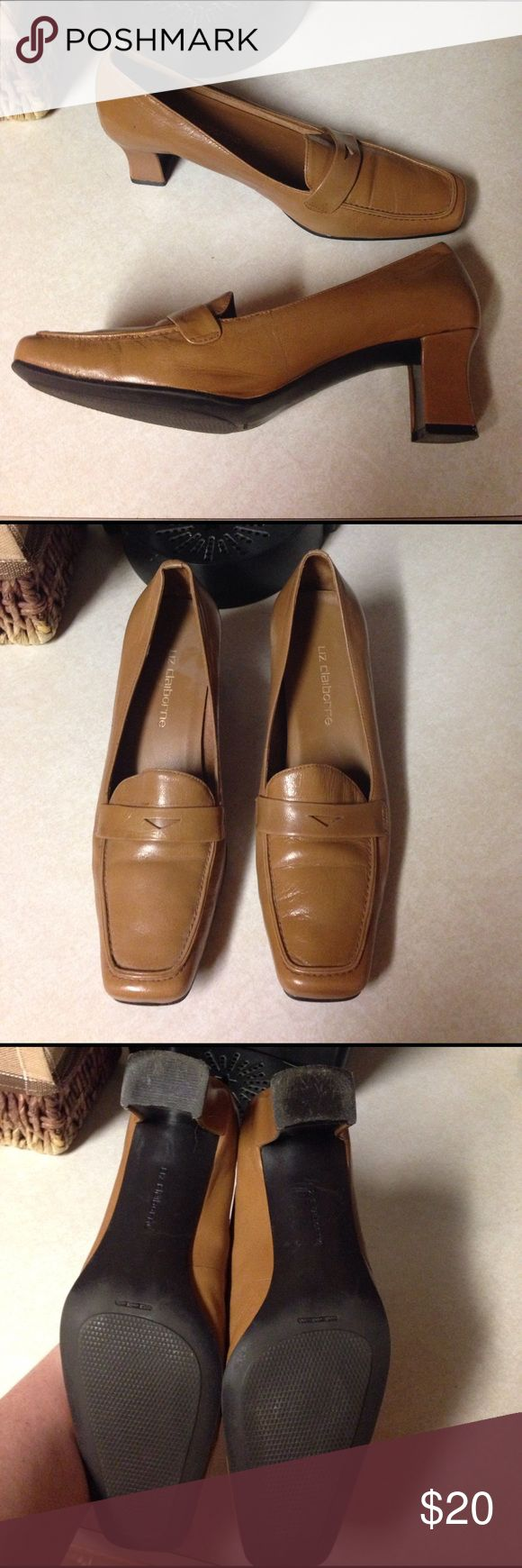 Liz Claiborne Heeled Loafers 6.5 M Milly Loafers by Liz Claiborne. These are a Caramel color with a low heel. Good to great condition Liz Claiborne Shoes Flats & Loafers