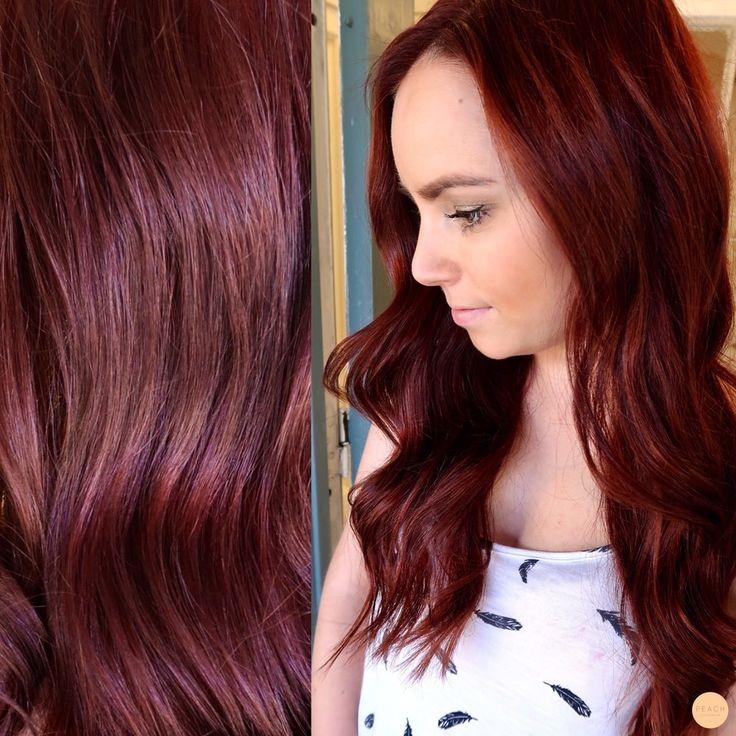 Dark copper hair!