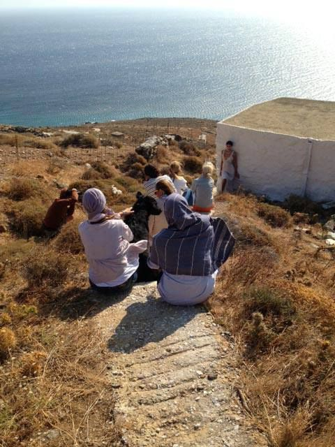 Did we tell that we are now in Tinos island, Greece working on our Spring Summer 2014 Lookbook? This is our team... under the hot sun of Cyclades!  #zeusndione