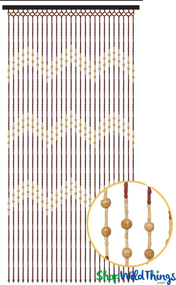 """Our new Wood Bead Curtain """"Tao"""" is really fabulous and the attractive design and…"""