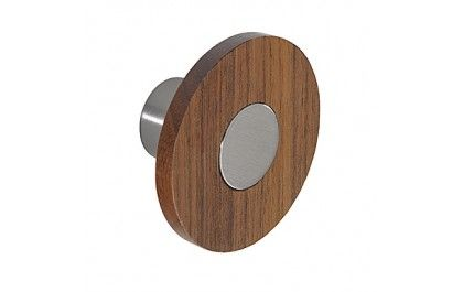 Create a simple yet contemporary design that looks fantastic in both contemporary and more classic styled kitchens with these Wenge finished wood with stainless steel cupboard and cabinet knobs