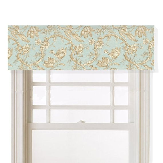 For Master bedroom - Valance Tulip Toile Kaufmann Brown