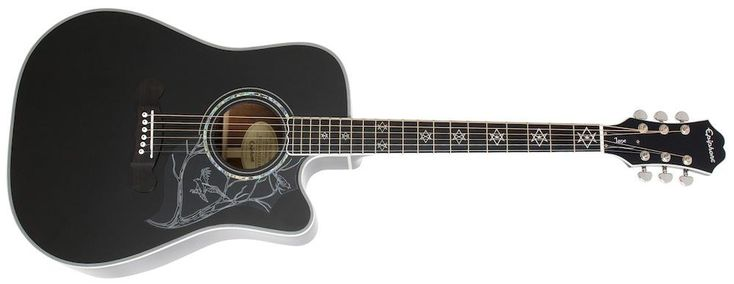 "Epiphone ""Jane""-black finish, mahogany back, sides and neck...dark sounding acoustic/electric"
