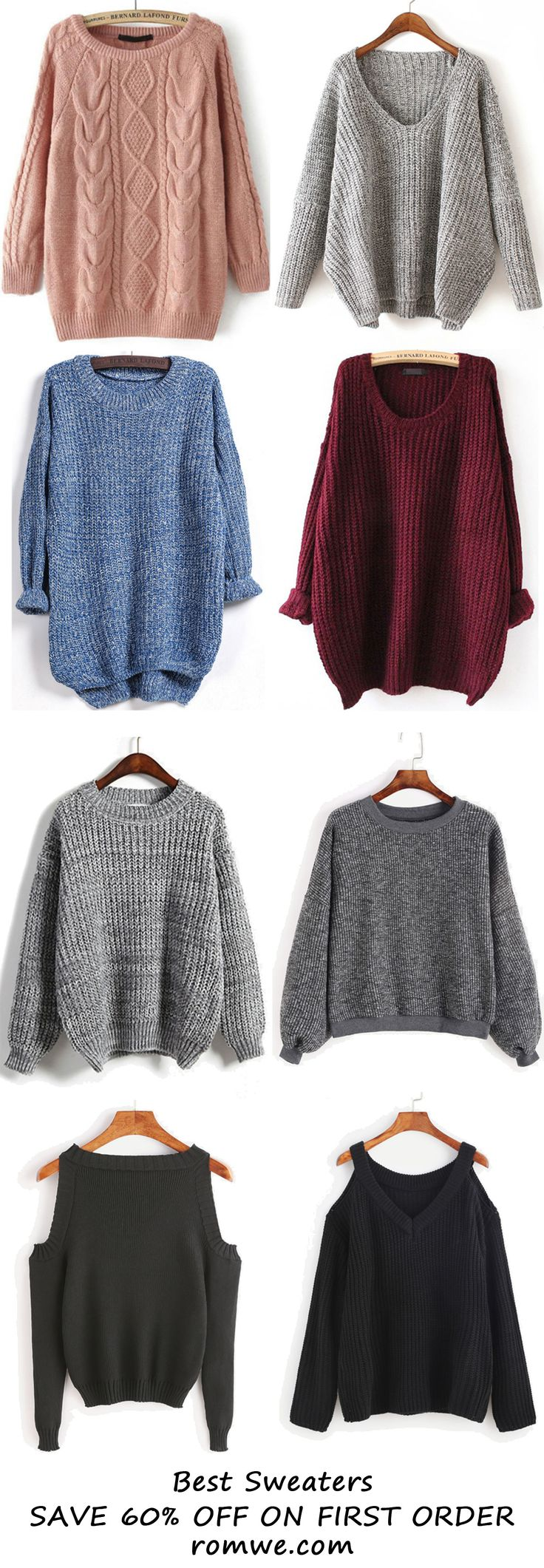 Fall & Winter Sweaters Collection 2016 from romwe.com