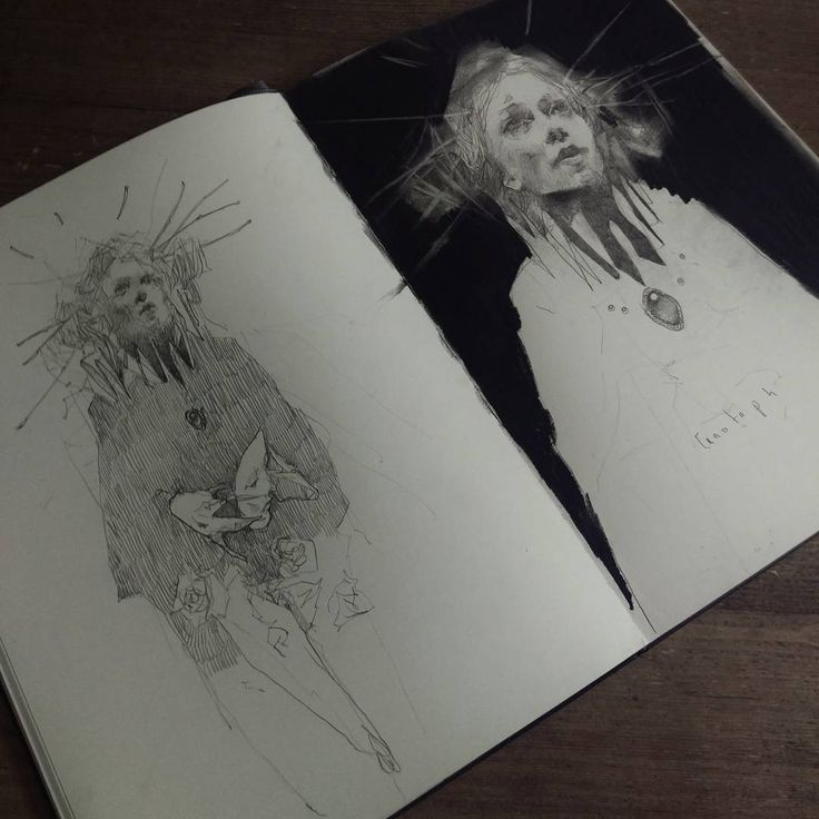 Pages from Artist Sketchbook by Craww, 2016