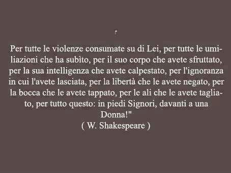Se lo dice Shakespeare!!!!!
