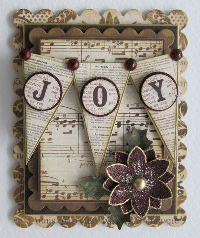 Shabby Christmas Joy Card