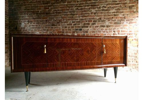 Magnificent French Art Deco Sideboard Buffet Credenza Macassar Ebony Large 1940s photo 1