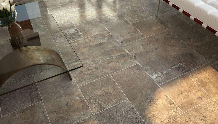 Porcel nico con textura piedra para pisos de interior ideas de decoraci n ceramica pisos - Piedra para interior ...