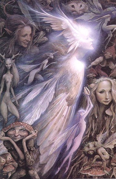 Brian Froud- I love the way there are so many creatures in some of his paintings, you keep spotting more