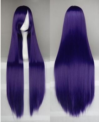 100cm long purple black Shirakiin Ririchiyo straight wig  ,shop at www.favorwe.com,cosplay wigs,fashion wigs,hair,beauty www.favorwe.com