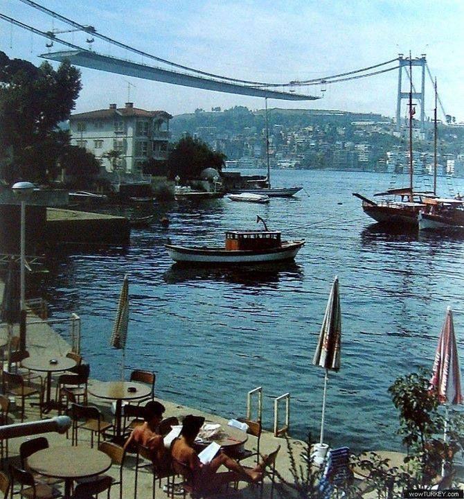 Istanbul first boshorus brige 1970's..<Turkey