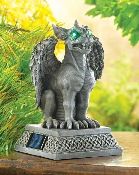 Details About Medieval Gargoyle Guard Statue Solar Powered