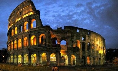 "Rome - Colloseum by night, and for free.  unless you ""just"" want a dessert and a bottle of wine with a wiev :)"