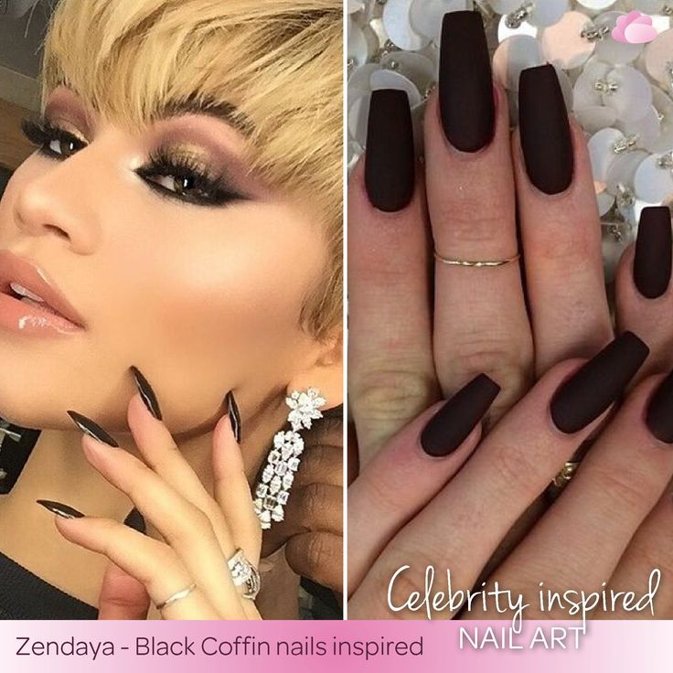 Not only is black classy but it can be chic. Zendaya rocking the Black Coffin nails as well as rocking the ‪#‎WCW‬ title today. ‪#‎InspiredNails‬ ‪#‎BlackCoffinNails‬ ‪#‎ZendayaInspired‬