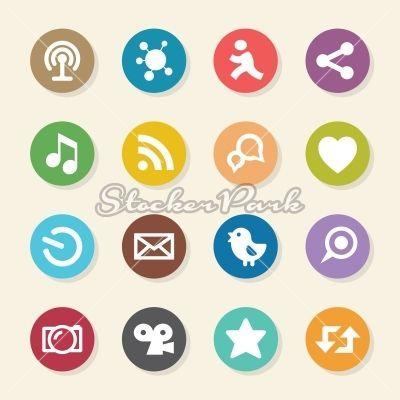 Social Media Icons - Color Circle Series