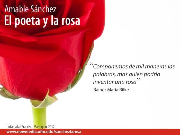 Amable Sánchez explica qué es la rosa, cómo se descubre en la poesía y concepto que tenían de ella los poetas Rainer Maria Rilke, Vicente Huidobro y Juan Ramón Jiménez. #UFMLiteratura