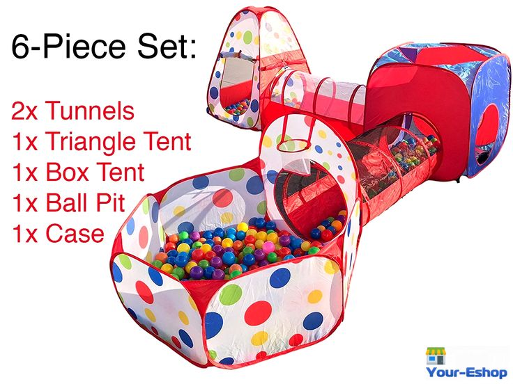 Playhouse Tent Indoor Outdoor Play Tunnel Ball Pit Pop Up Bounce House For Kids | eBay