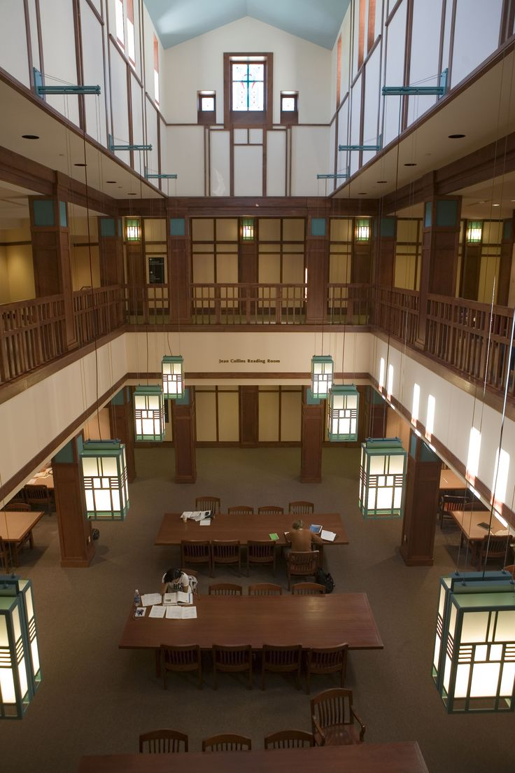Reading room, Cline Library, Northern Arizona University, Flagstaff, AZ.