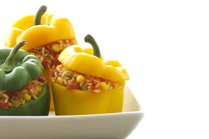 Lunch: Stuffed bell peppers , 8 Easy Microwave Recipes