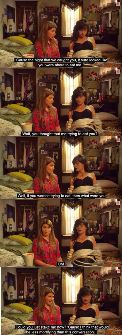 Laura being clueless while Carmilla wishes she wasn't immortal and could just DIE. (Carmilla)