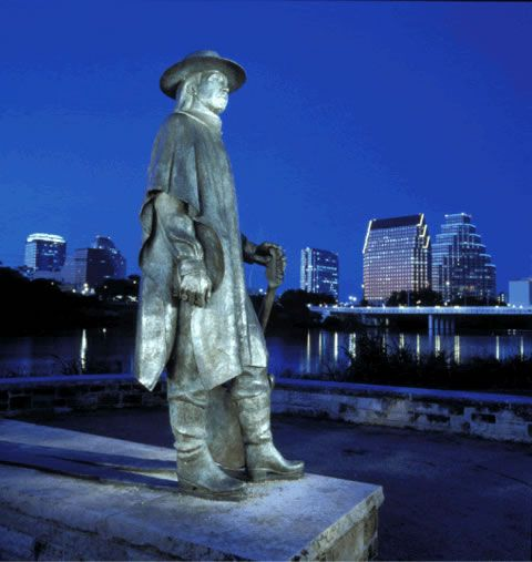 Stevie Ray statue,   Austin, TX