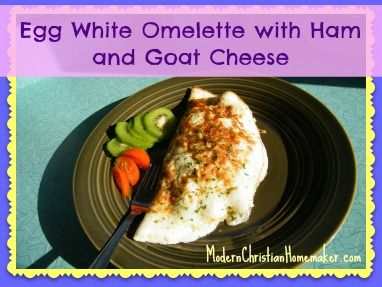 Egg White Omelette with Goat Cheese | Awesome Recipes | Pinterest